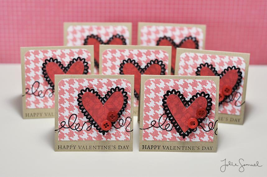 Mini Valentines - Button Heart