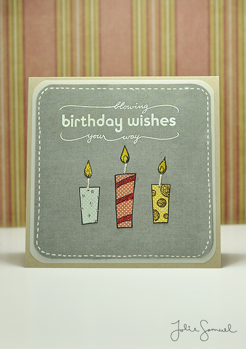 Birthday Wishes - Candles Card